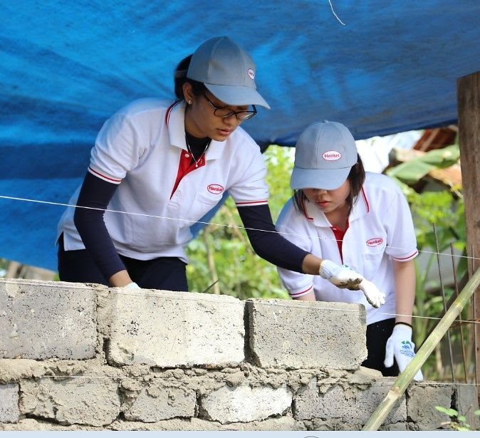 Henkel Indonesia builds houses with Habitat for Humanity for the needy in Tangerang