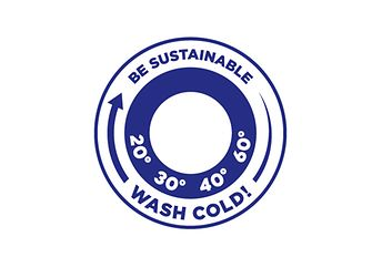 "To motivate consumers to do their laundry in an environmentally compatible way, Henkel Laundry & Home Care developed a special logo with the slogan ""be sustainable – wash cold."" It is placed on our laundry detergent packaging and aims to encourage consumers to save energy when doing their laundry."